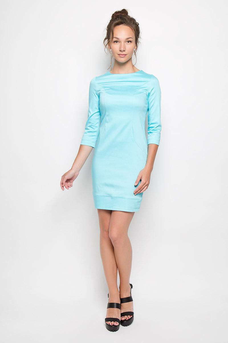 Платье10416Яркое платье-миди Milana Style поможет создать оригинальный женственный образ. Выполненное из хлопка с добавлением полиамида, оно очень приятное на ощупь, не сковывает движений и хорошо вентилируется. Модель с круглым вырезом горловины и рукавами 3/4 сзади застегивается на потайную застежку-молнию. Такое платье станет модным и стильным дополнением к вашему гардеробу!