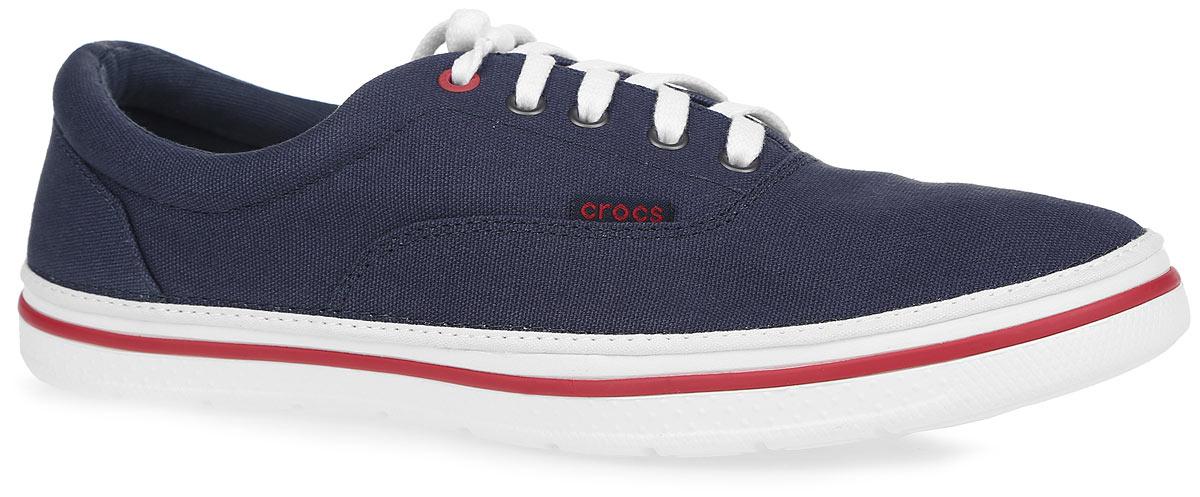 Кеды201651-462Стильные мужские кеды Norlin Plim от Crocs покорят вас с первого взгляда! Модель выполнена из плотного текстиля и сбоку оформлена нашивкой с названием бренда, на подошве - контрастной полоской. Шнуровка обеспечивает надежную фиксацию обуви на ноге. Внутренняя поверхность из текстиля и стелька из материала ЭВА с текстильной вставкой гарантируют комфорт при движении. Подошва из полимера Croslite очень легкая и гибкая. Рифление на подошве гарантирует идеальное сцепление с поверхностью. Такие кеды займут достойное место в вашем гардеробе.