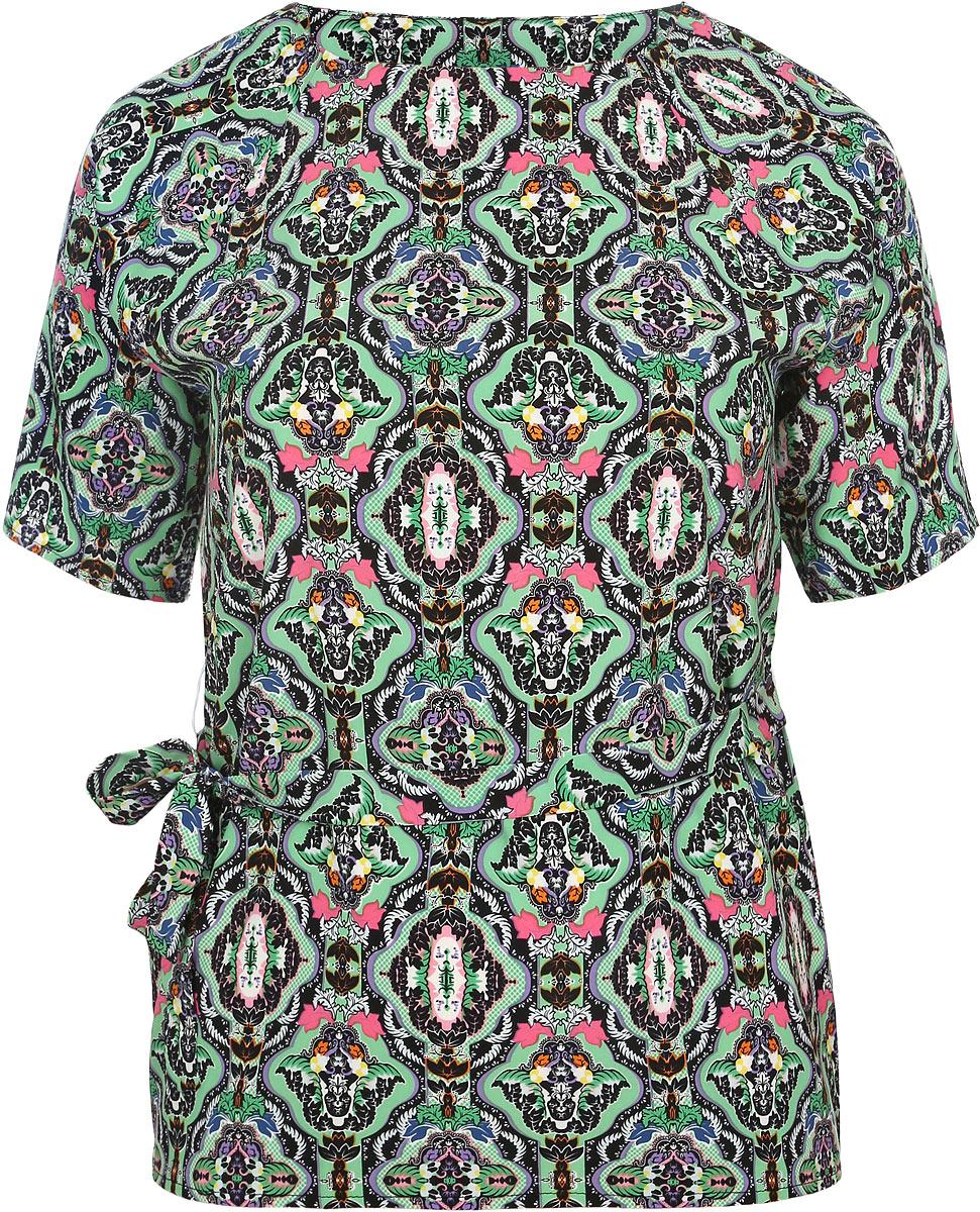 931мСтильная женская блузка Milana Style, выполненная из эластичного полиэстера с добавлением вискозы, подчеркнет ваш уникальный стиль и поможет создать оригинальный женственный образ. Блузка с рукавами-реглан до локтя и круглым вырезом горловины дополнена узким текстильным поясом в тон изделия. Модель украшена мелким орнаментом. Такая блузка идеально подойдет для жарких летних дней. Легкая и удобная блузка будет дарить вам комфорт в течение всего дня и послужит замечательным дополнением к вашему гардеробу.