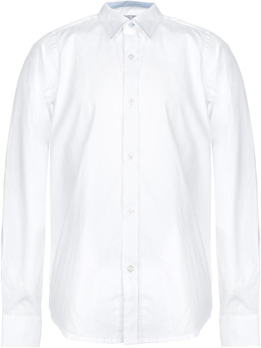 РубашкаAW15BS352B-1Рубашка для мальчика Nota Bene, выполненная из натурального хлопка, отлично сочетается как с джинсами, так и с классическими брюками. Материал изделия мягкий и приятный на ощупь, не стесняет движений и обладает высокими дышащими свойствами. Рубашка с длинными рукавами и отложным воротником застегивается спереди на пуговицы по всей длине. Манжеты рукавов также имеют застежки-пуговицы. На груди расположен накладной карман. Классический крой и высокое качество исполнения принесут удовольствие от покупки и подарят отличное настроение!