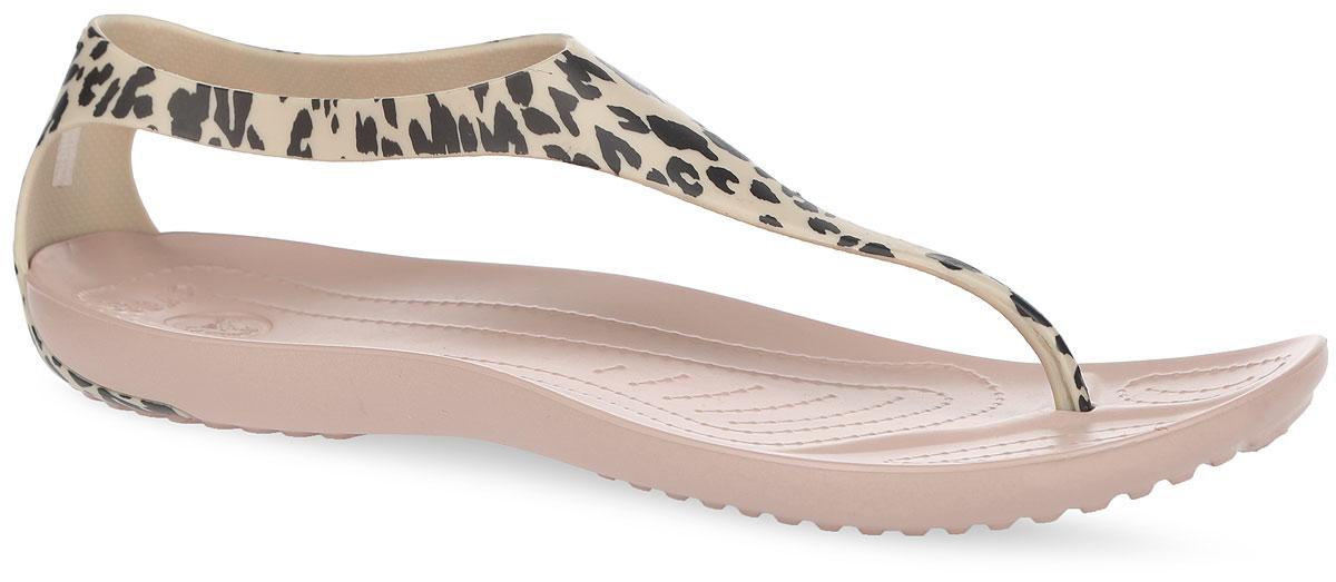 Crocs Сланцы женские Sexy Leopard Print Flip. 203218