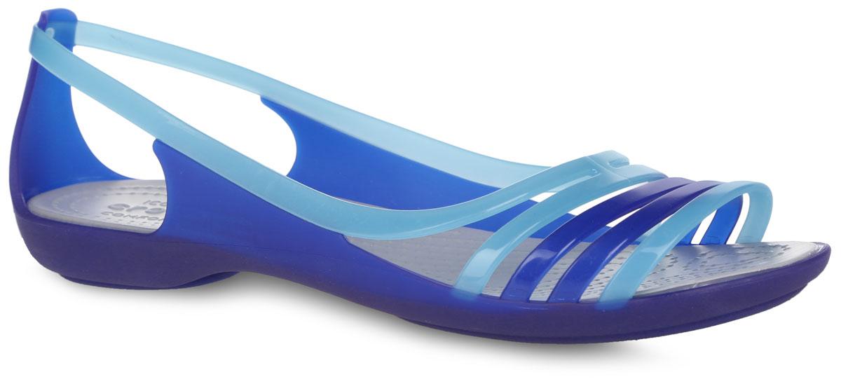 Балетки Isabella Huarache Flat. 202463202463-4O5Стильные балетки Isabella Huarache Flat от Crocs - незаменимая вещь в гардеробе каждой женщины. Верх модели выполнен из термопластичного полиуретана. Стелька из материала ЭВА с рельефной поверхностью комфортна при движении. Подошва с рифлением обеспечивает отличное сцепление с поверхностью. Такие балетки не только прекрасно смотрятся на ноге, они еще удобны и долговечны. Модные балетки станут прекрасным завершением вашего летнего образа.