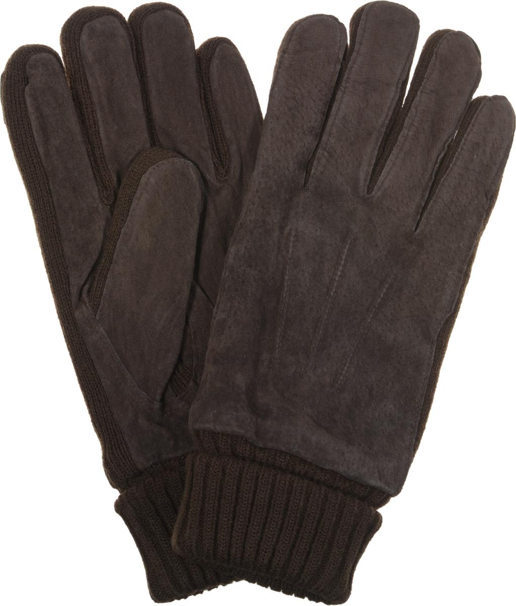 ПерчаткиMKH 04.62Потрясающие мужские перчатки торговой марки Modo выполнены из чрезвычайно мягкой и приятной на ощупь кожи - велюра в сочетании с трикотажем, а их подкладка - из мягкого флиса. Утеплены современным утеплителем Thinsulate. Лицевая сторона оформлена декоративными швами три луча, а на ладонной стороне модель дополнена стягивающей резинкой. Великолепные мужские перчатки Modo не только согреют руки, но и дополнят ваш образ в качестве эффектного аксессуара.