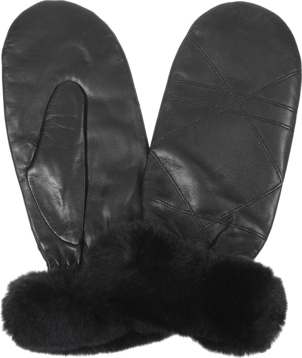 Варежки9.65-1Стильные женские варежки Fabretti не только защитят ваши руки от холода, но и прекрасно дополнят ваш модный образ. Модель выполнена из натуральной эфиопской кожи ягненка на подкладке из шерсти с добавлением кашемира. Модель украшена оригинальной прострочкой и меховой опушкой из натурального меха. Варежки Fabretti станут завершающим и подчеркивающим элементом вашего стиля и неповторимости.