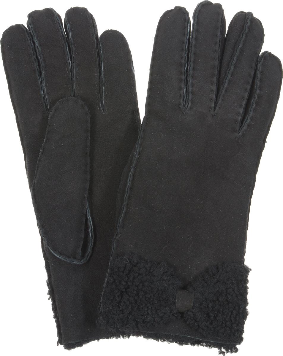 Перчатки25.8-1Стильные женские перчатки Fabretti не только защитят ваши руки, но и станут великолепным украшением. Перчатки выполнены из чрезвычайно мягкой и приятной на ощупь мелковорсистой натуральной кожи. Изнаночная сторона дополнена мягкой шерстью. Оформлено изделие наружными ручными швами и декорировано оригинальным бантом. Такие перчатки будут оригинальным завершающим штрихом в создании современного модного образа, они подчеркнут ваш изысканный вкус и станут незаменимым и практичным аксессуаром.