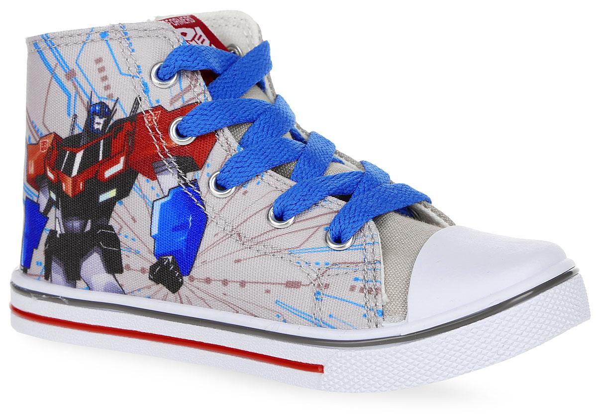 Кеды для мальчика Transformers. 6024A6024AСтильные кеды Kakadu Transformers очаруют вашего малыша с первого взгляда! Модель выполнена из плотного текстильного материала и дополнена на мыске классической прорезиненной вставкой. Шнуровка и боковая застежка-молния, дополненная хлястиков на липучке, надежно зафиксируют обувь на ножке ребенка. Обувь с одной из боковых сторон оформлена изображением знаменитого героя из мультфильма Transformers , язычок - текстильной нашивкой. Подкладка изготовлена из 100% хлопка - гипоаллергенного материала, позволяющего коже дышать и хорошо впитывающим влагу. Анатомическая стелька из ЭВА с текстильной верхней поверхностью прекрасно впитывает лишнюю влагу, препятствует появлению бактерий, нейтрализует неприятный запах, уменьшает нагрузку на суставы и позвоночник и оказывает профилактическое действие против плоскостопия. Подошва из ПВХ оснащена рифлением для лучшей сцепки с поверхностями. Модные и в то же время удобные кеды - необходимая вещь в гардеробе каждого...