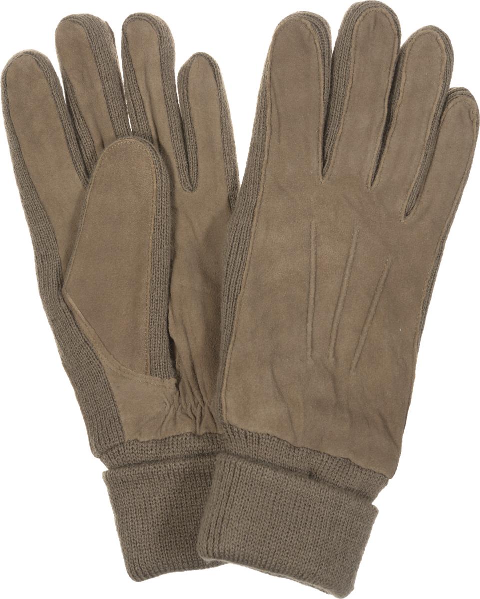 Перчатки42.1-1Женские перчатки Fabretti оригинального исполнения станут великолепным дополнением вашего образа и защитят ваши руки от холода и ветра во время прогулок. Перчатки изготовлены из высококачественного комбинированного материала (замши и трикотажа), что позволяет им надежно сохранять тепло. Они мягкие и идеально сидят на руке и хорошо тянутся. Перчатки оформлены декоративной прострочкой, а манжеты дополнены широкими отворотами и с тыльной стороны присборены на эластичную резинку. Такие перчатки будут оригинальным завершающим штрихом в создании современного модного образа, они подчеркнут ваш изысканный вкус и станут незаменимым и практичным аксессуаром.
