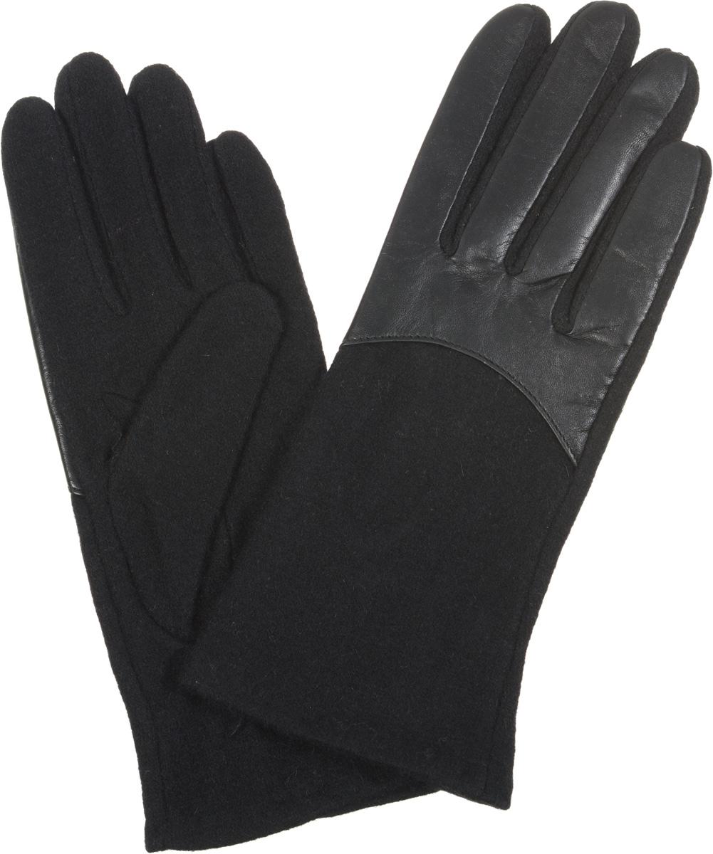 Перчатки3.9-1Элегантные женские перчатки Fabretti станут великолепным дополнением вашего образа и защитят ваши руки от холода и ветра во время прогулок. Перчатки выполнены из высококачественного комбинированного материала, что позволяет им надежно сохранять тепло. Манжеты с тыльной стороны присборены на эластичные резинки. Такие перчатки будут оригинальным завершающим штрихом в создании современного модного образа, они подчеркнут ваш изысканный вкус и станут незаменимым и практичным аксессуаром.