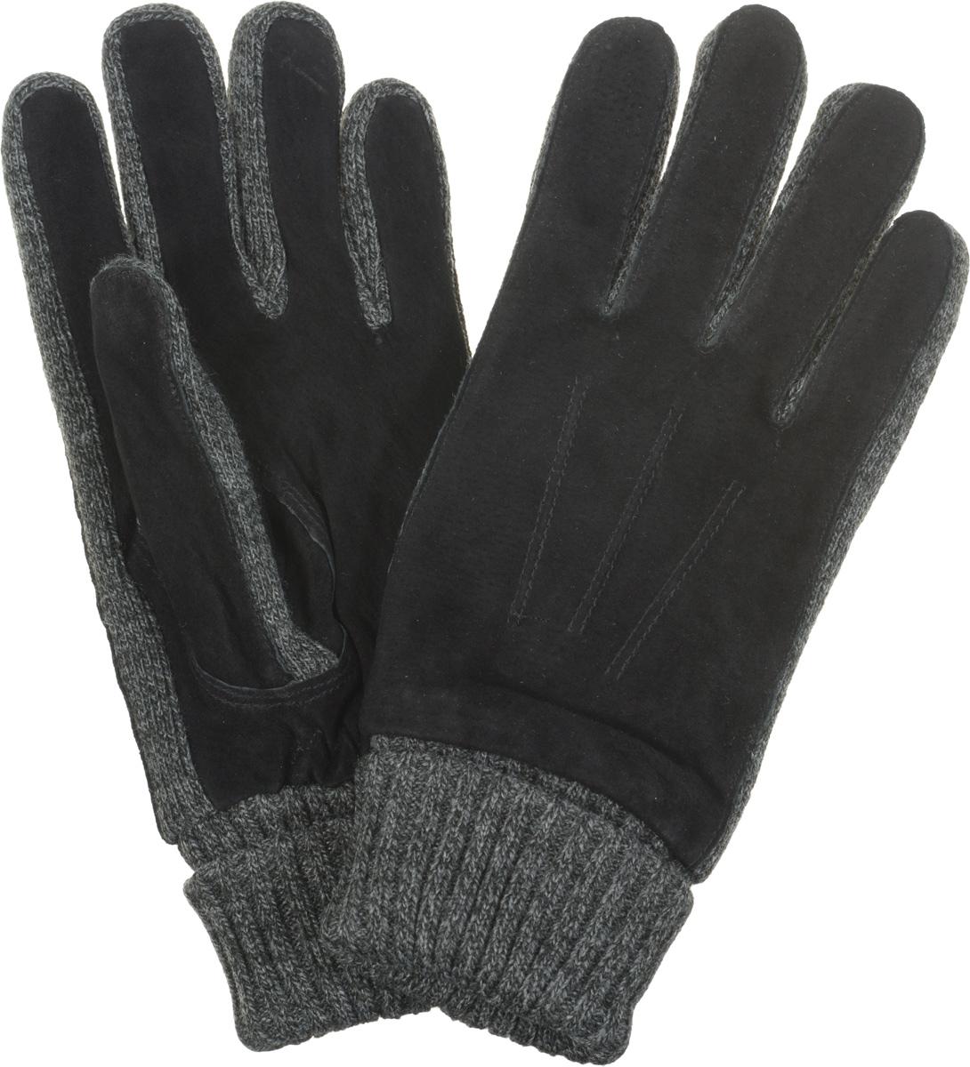 MKH 04.62Потрясающие мужские перчатки торговой марки Modo выполнены из чрезвычайно мягкой и приятной на ощупь кожи - велюра в сочетании с трикотажем, а их подкладка - из мягкого флиса. Утеплены современным утеплителем Thinsulate. Лицевая сторона оформлена декоративными швами три луча, а на ладонной стороне модель дополнена стягивающей резинкой. Великолепные мужские перчатки Modo не только согреют руки, но и дополнят ваш образ в качестве эффектного аксессуара.