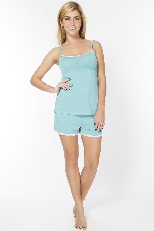 Пижама женская. LP2063SLP2063SИнтересный комплект из шорт и майки на тонких берелях, запринтованы в мелкий горошек.