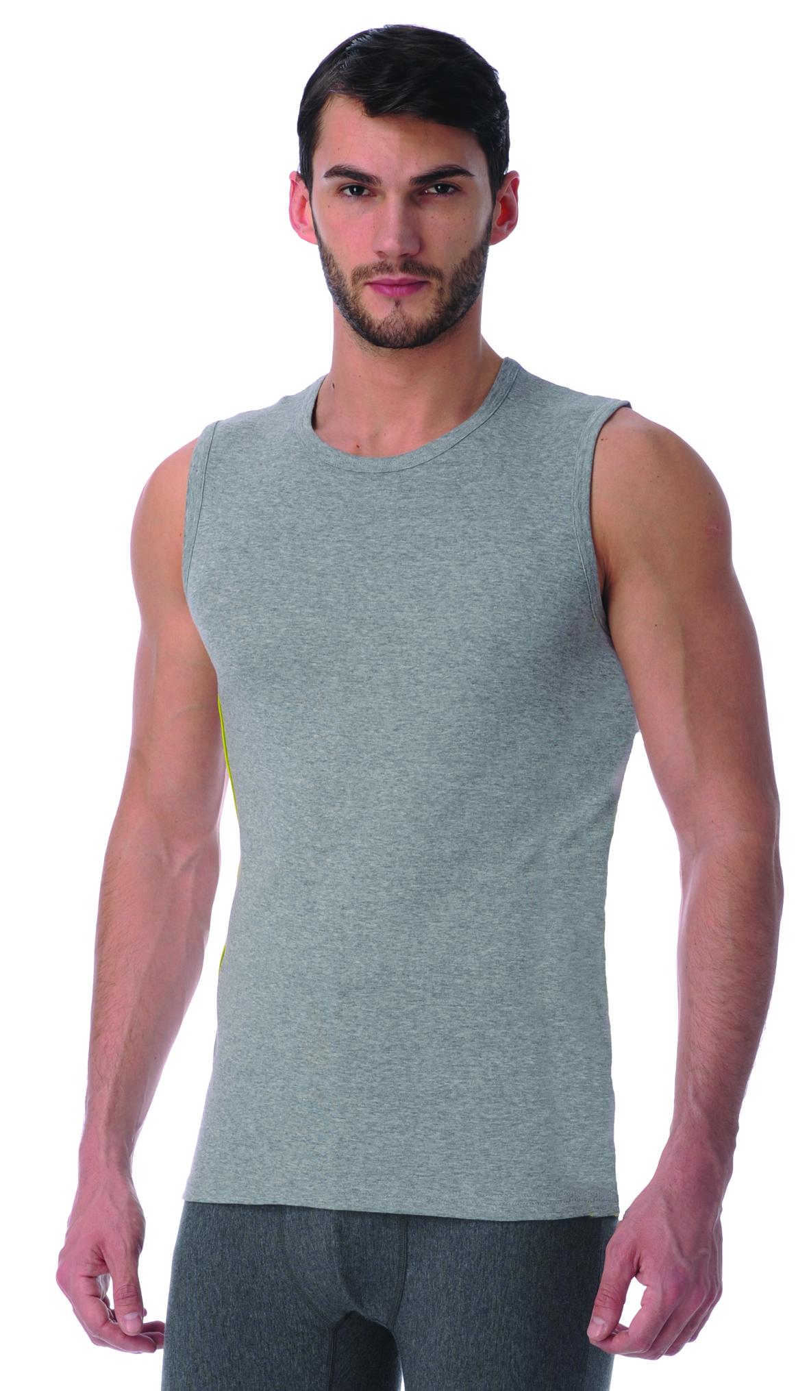 Майка мужская. TMM107TMM107Майка однотонная на широких бретелях. Рекомендуется в качестве нижнего белья или домашней одежды. В 2х ростах: В, С