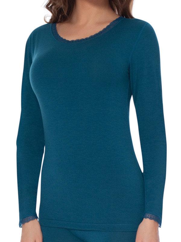 Термобелье футболка женская. TLF1030TLF1030Женская кофточка с термоэффектом - это бережный и надежный способ защитить себя от холода и сырости даже в самые лютые морозы. Модель тончайшего плетения с ажурным эффектом идеально подходит для людей с чувствительной кожей. Тонкая, мягкая и облегающая кофточка прекрасно подойдет как для повседневной носки под одеждой, так и для длительных прогулок.