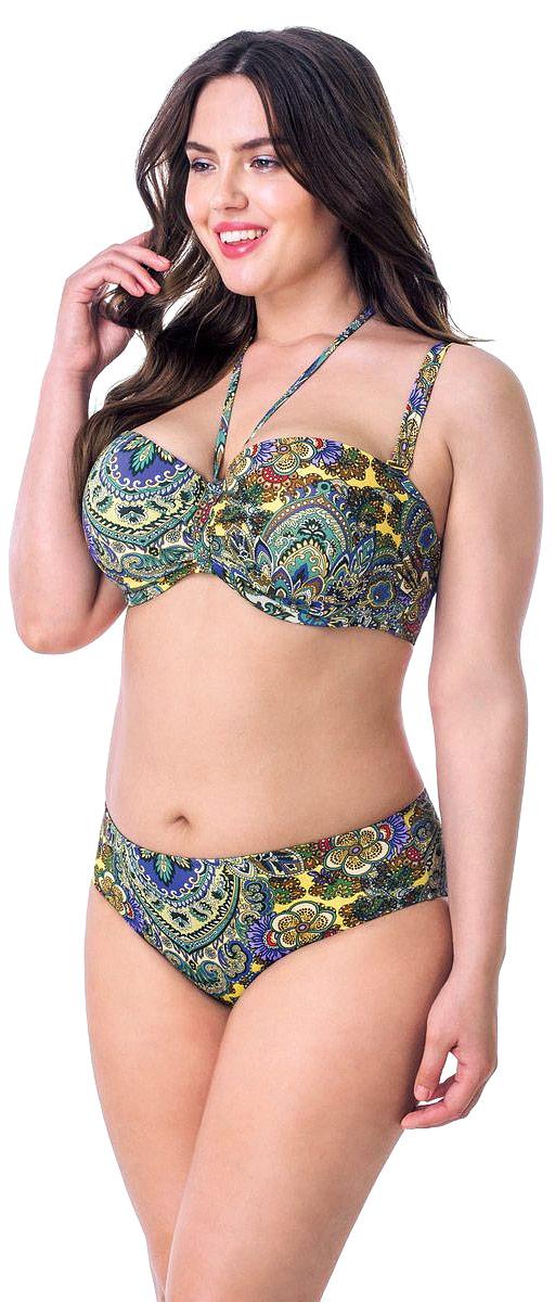 Купальник Сапфир. RF580CRF580C-1057Купальник-бикини Tribuna Сапфир - это оригинальный купальный костюм для самых стильных девушек, он позволит вам подчеркнуть свой вкус и элегантность. Купальник-бикини выполнен из эластичного полиамида. Съемные широкие бретели регулируются по длине. Лиф также дополнен узкими съемными завязками на шею для дополнительной поддержки. Спинка лифа застегивается на металлическую защелку. Лиф с формованными чашками дополнен косточками, обеспечивающими наилучшую посадку и дополнительную поддержку груди. Удобные и комфортные трусики-слипы превосходно сидят по фигуре и не препятствуют движениям. Купальник оформлен красочным цветочным принтом. Яркий и стильный купальник великолепно подойдет для плавания и солнечных ванн. Он подарит вам комфорт и сделает ваш образ незабываемым.