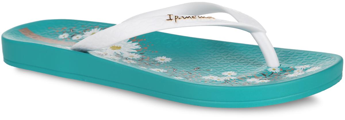 81698-21119Стильные женские сланцы Anatomic Temas V Fem от Ipanema очаруют вас с первого взгляда. Модель полностью выполнена из поливинилхлорида и оформлена на ремешке названием бренда. Верхняя поверхность подошвы оформлена цветочным принтом. Ремешки с перемычкой гарантируют надежную фиксацию модели на ноге. Рифление на верхней поверхности подошвы предотвращает выскальзывание ноги. Рельефное основание подошвы обеспечивает уверенное сцепление с любой поверхностью. Удобные сланцы прекрасно подойдут для похода в бассейн или на пляж.