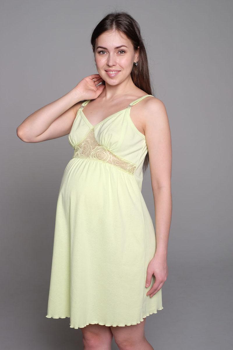 Ночная рубашка1-П 13504Нежная сорочка для беременных и кормящих мам. Бретель на застежке-клипсе, что очень удобно для кормления малыша. Такая сорочка будет радовать вас не только в период беременности, но и после.