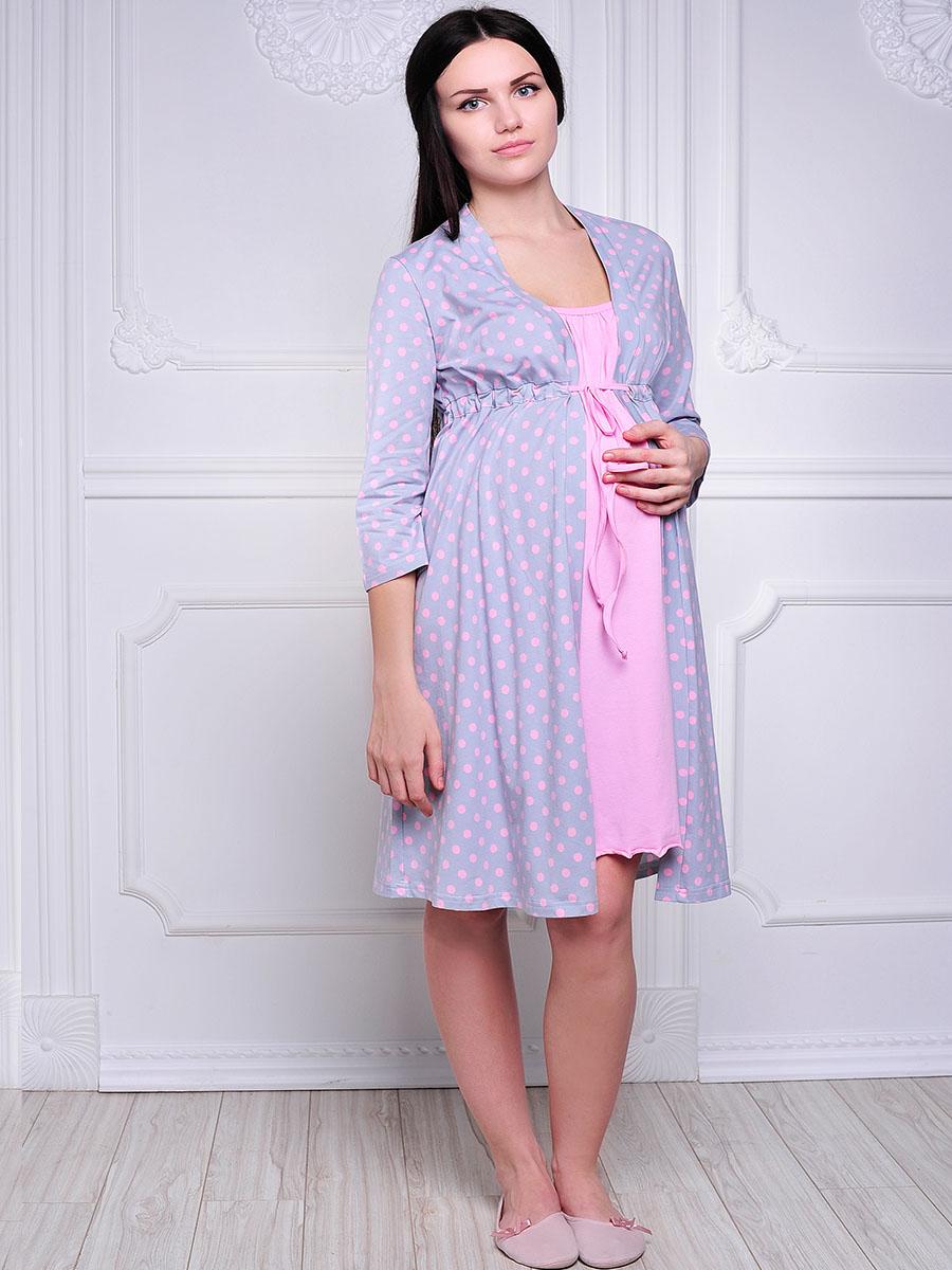 Комплект бельяК 09228Удобный, красивый комплект для беременных и кормящих мам Hunny Mammy, изготовленный из эластичного хлопка, состоит из халата и сорочки, замечательно подходит для сна и отдыха. Халат на запах с длинными рукавами под грудью завязывается при помощи тонкой тесемки. Сорочка свободного кроя на тонких бретелях дополнена клипсами для кормления. Такой комплект сделает отдых будущей мамы комфортным. Одежда, изготовленная из хлопка, приятна к телу, сохраняет тепло в холодное время года и дарит прохладу в теплое, позволяет коже дышать.