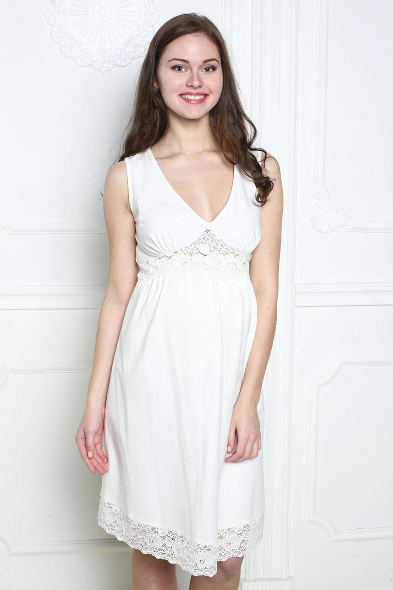 Ночная рубашка1-П 17702Чудесная сорочка для беременных и кормящих выполнена из мягкого трикотажного полотна. Декорирована изящным кружевом.