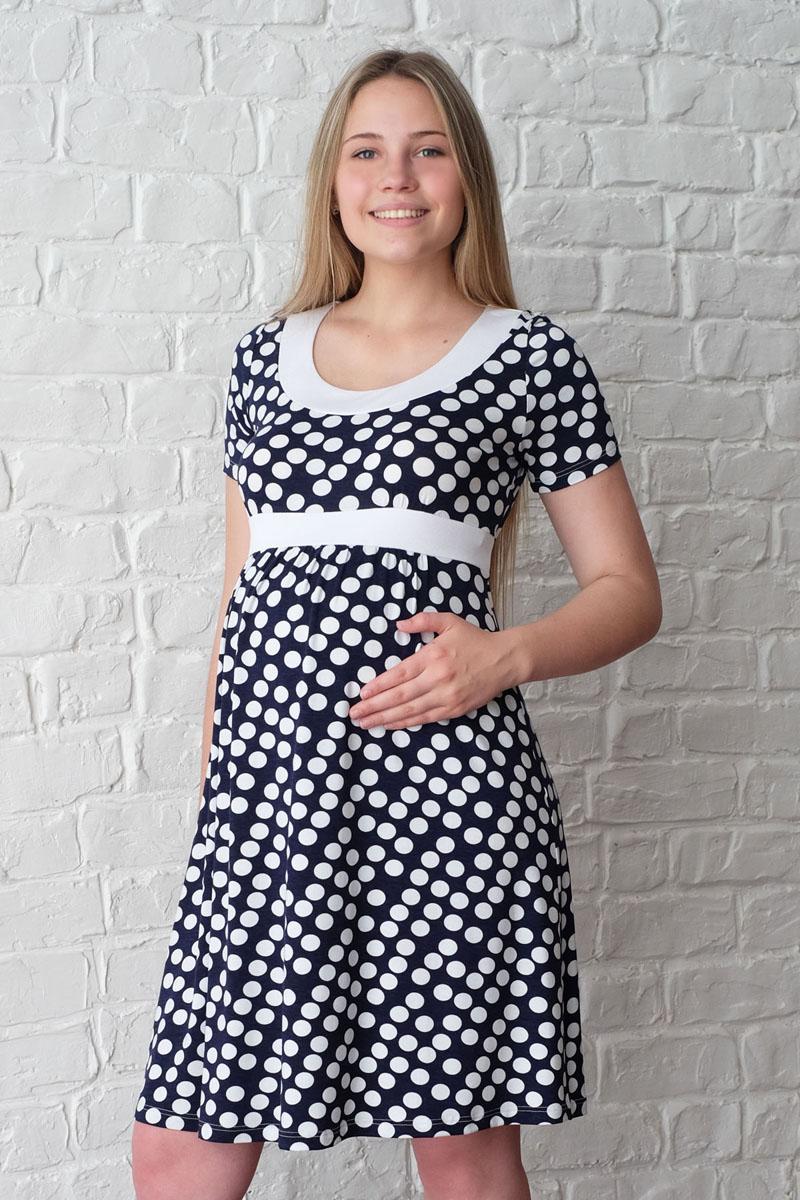 Платье3-НМ 15709Легкое летнее женственное платье для беременных, выполненное из трикотажного полотна, позволит вам отлично выглядеть и комфортно чувствовать себя на протяжении всего срока беременности и после него.