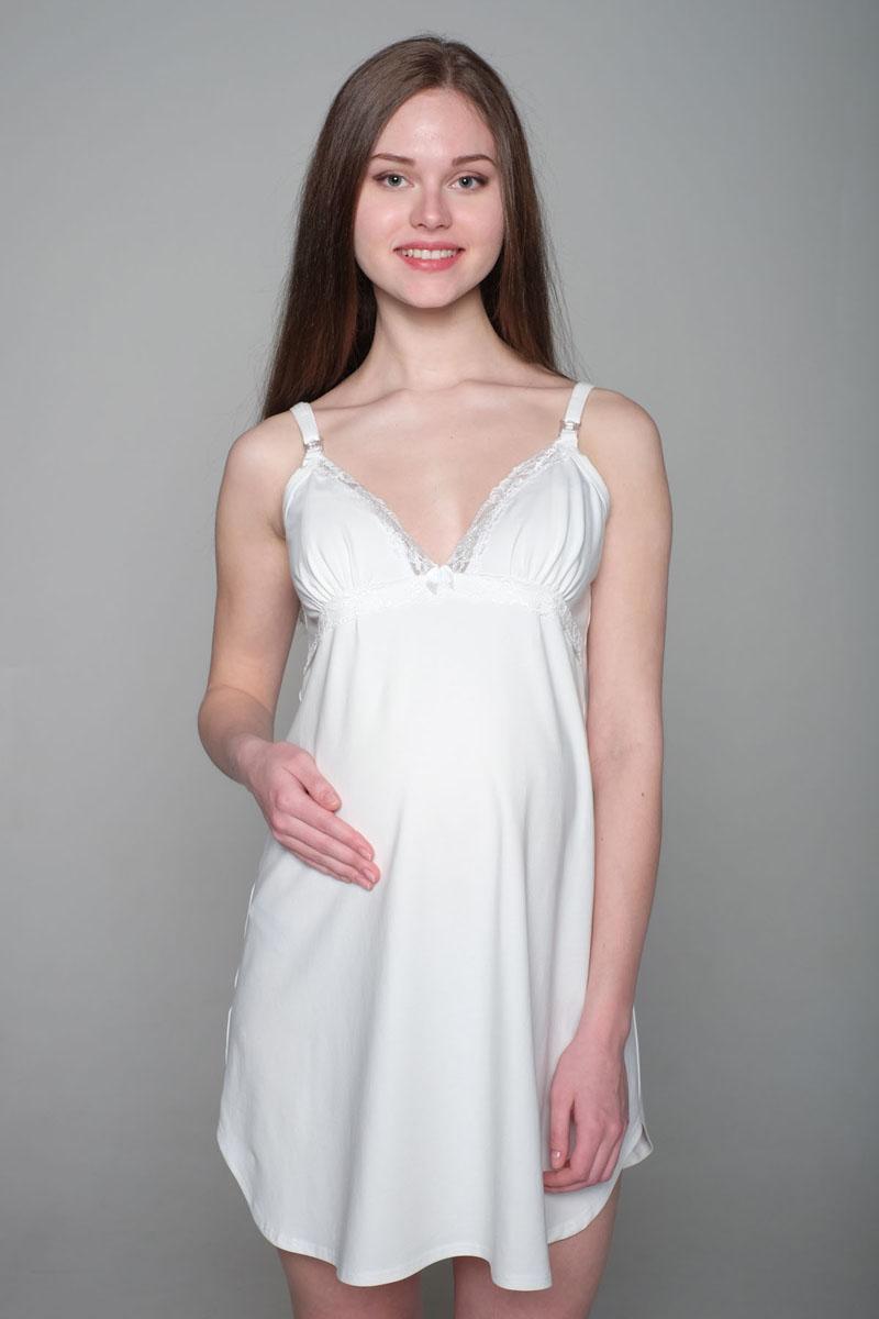 Ночная рубашка1-НМП 04902Удобная трикотажная ночная сорочка для беременных и кормящих Hunny Mammy изготовлена из высококачественного хлопкового материала с добавлением эластана. Сорочка на бретелях с клипсой для кормления.
