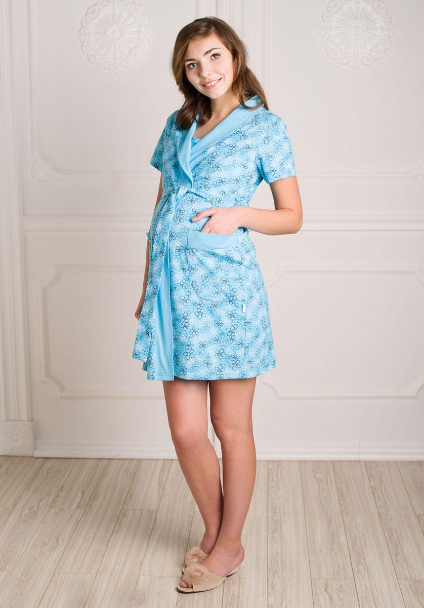 Комплект бельяК 09920Удобный, красивый комплект для беременных и кормящих мам Hunny Mammy, изготовленный из натурального хлопка, состоит из халата и сорочки, замечательно подходит для сна и отдыха. Халат на запах с широким поясом, короткими рукавами и воротником-шалькой по бокам дополнен вместительными накладными карманами. Сорочка свободного кроя на кокетке без рукавов имеет на груди секрет для кормления. Такой комплект сделает отдых будущей мамы комфортным. Одежда, изготовленная из хлопка, приятна к телу, сохраняет тепло в холодное время года и дарит прохладу в теплое, позволяет коже дышать.