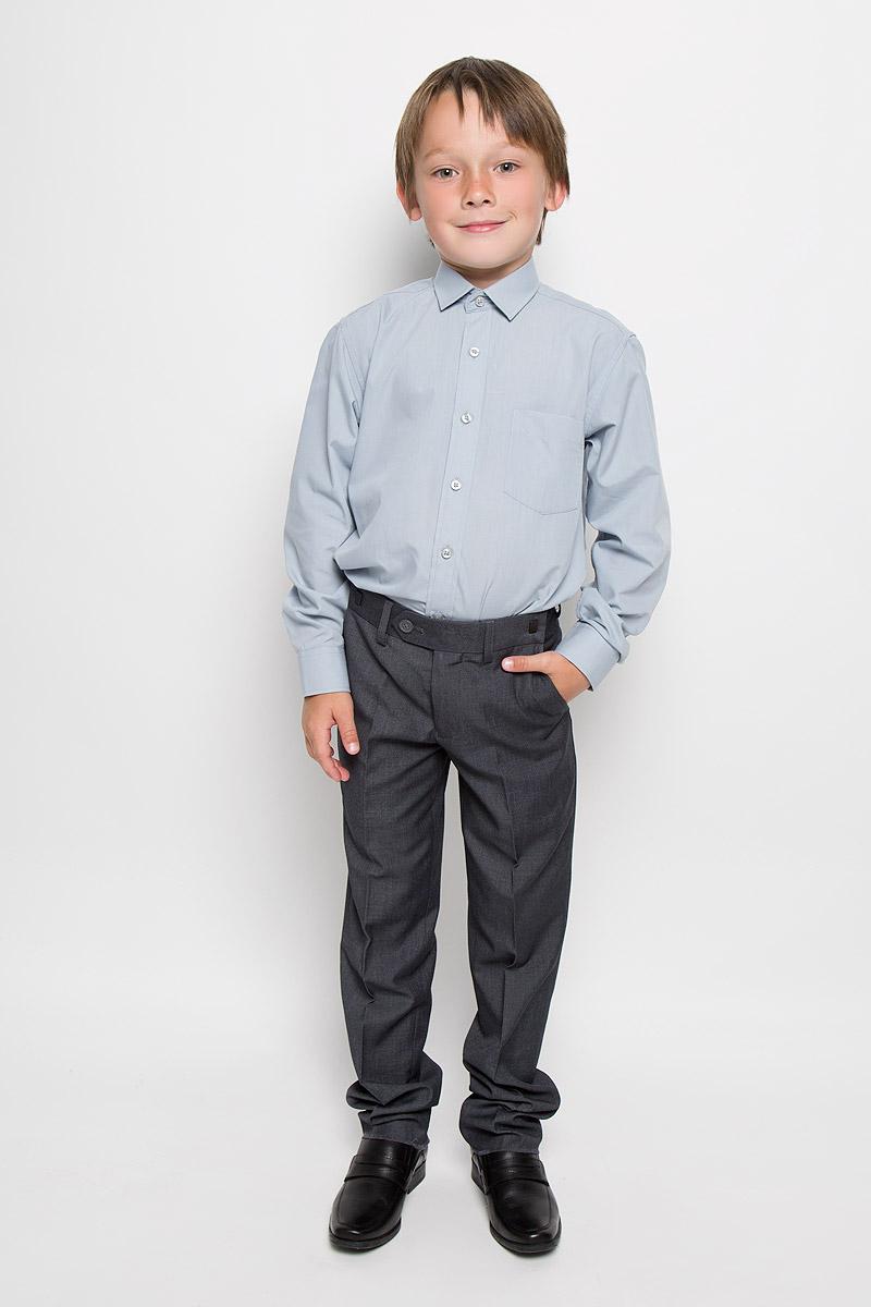 Рубашка23 Ciel BlueРубашка для мальчика Imperator выполнена из хлопка с добавлением полиэстера. Она отлично сочетается как с джинсами, так и с классическими брюками. Материал изделия мягкий и приятный на ощупь, не сковывает движения и обладает высокими дышащими свойствами. Рубашка прямого кроя с длинными рукавами и отложным воротником застегивается на пуговицы по всей длине. Манжеты рукавов также имеют застежки-пуговицы. На груди расположен накладной карман. Такая рубашка займет достойное место в детском гардеробе!