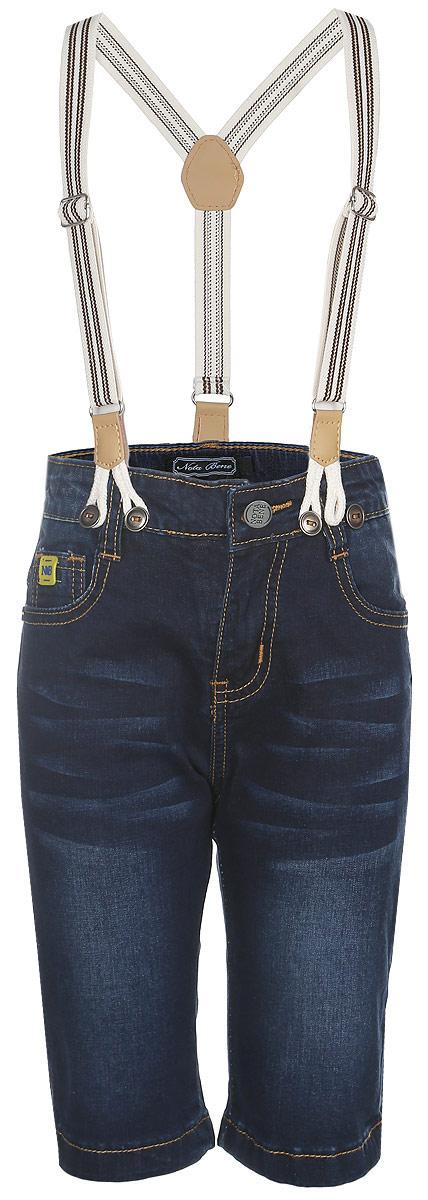 SS161B416-13Удобные шорты для мальчика Nota Bene идеально подойдут вашему маленькому моднику. Изготовленные из эластичного хлопка, они не сковывают движения, сохраняют тепло и позволяют коже дышать, обеспечивая наибольший комфорт. Шорты застегиваются на пуговицу в поясе, также имеются шлевки для ремня и ширинка на застежке-молнии. Объем пояса регулируется изнутри при помощи эластичной резинки с пуговицами. Спереди модель дополнена двумя втачными карманами и накладным кармашком, а сзади - двумя накладными карманами. Оформлено изделие перманентными складками и легким эффектом потертости. В комплект входят стильные съемные подтяжки, фиксирующиеся при помощи пуговиц. Практичные и стильные шорты идеально подойдут вашему малышу, а модная расцветка и высококачественный материал позволят ему комфортно чувствовать себя в течение дня и всегда оставаться в центре внимания!