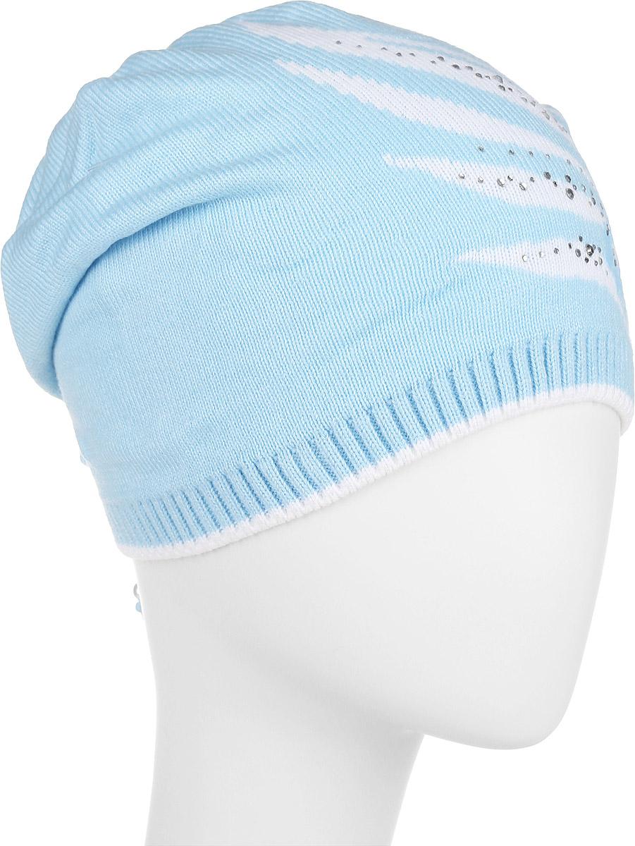 Шапка детскаяD3358-22Стильная шапка для девочки ПриКиндер идеально подойдет для прогулок и активных игр на свежем воздухе. Шапка выполнена из высококачественного акрила с добавлением хлопка, она невероятно мягкая и приятная на ощупь, великолепно тянется и удобно сидит. Такая шапочка отлично дополнит любой наряд. Модель украшена оригинальным цветочным узором и сверкающими стразами, а также дополнена декоративными завязками с бусинами сзади. Удобная шапка станет модным и стильным дополнением гардероба вашей маленькой принцессы, надежно защитит ее от холода и ветра и поднимет ей настроение даже в пасмурные дни! Уважаемые клиенты! Размер, доступный для заказа, является обхватом головы.