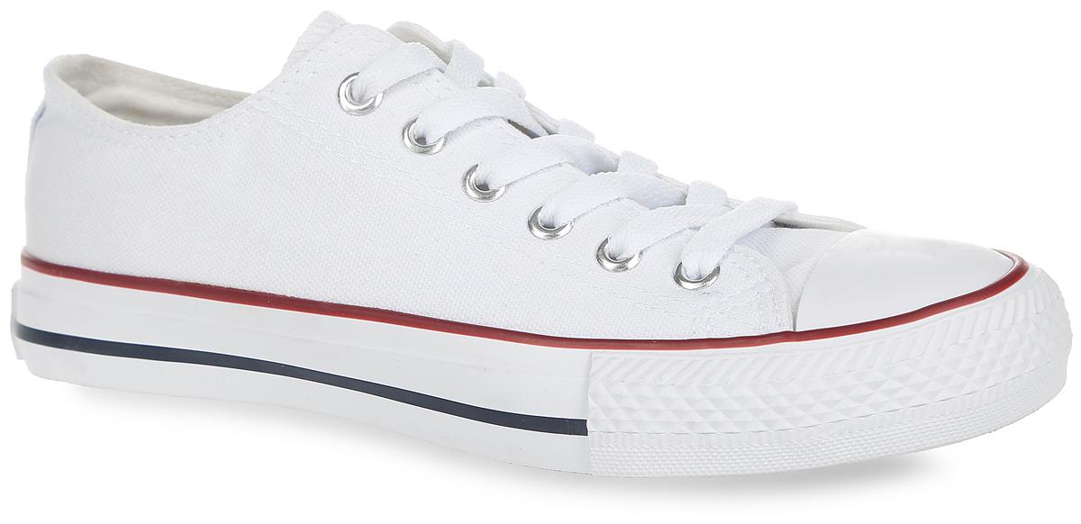 Кеды2149122Стильные женские кеды от Beppi покорят вас с первого взгляда! Модель выполнена из плотного текстиля и оформлена на подошве контрастными полосками, сбоку - декоративными металлическими люверсами. Мыс защищен прорезиненной вставкой. Классическая шнуровка обеспечивает надежную фиксацию обуви на ноге. Подкладка из текстиля и стелька из материала ЭВА с текстильной поверхностью гарантируют комфорт при движении. Прочная резиновая подошва с рельефным рисунком обеспечивает сцепление с любой поверхностью. Такие кеды займут достойное место в вашем гардеробе.