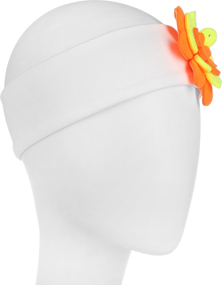 Повязка на голову для девочки. DC2441-22DC2441-22Очаровательная повязка на голову для девочки ПриКиндер отлично подойдет для солнечной жаркой погоды или для создания праздничного образа. Симпатичный аксессуар защитит голову от яркого солнца или возьмет на себя функцию ободка. Повязка выполнена из эластичного хлопка и декорирована пришитым мягким многослойным цветком, украшенным стразами. Изделие не сдавливает голову малышки и превосходно тянется. Повязка завершит образ вашей маленькой принцессы и станет незаменимым аксессуаром в детском гардеробе. Уважаемые клиенты! Размер, доступный для заказа, является обхватом головы.