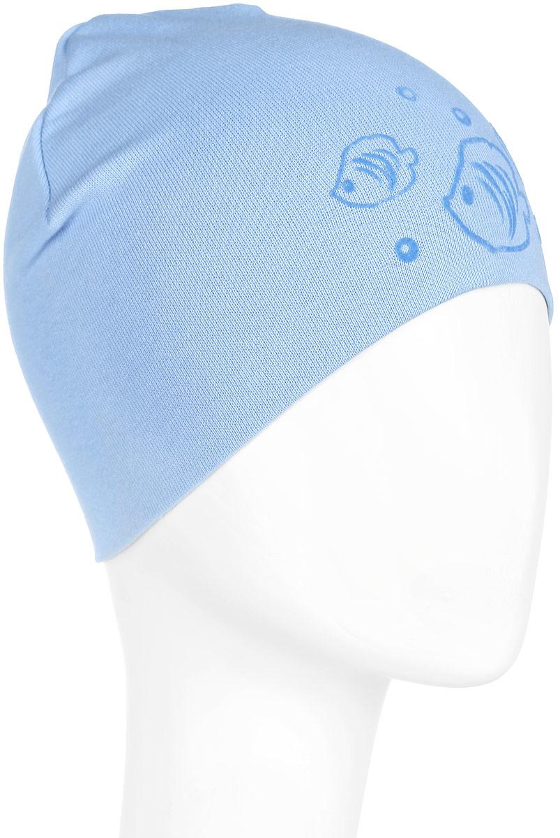 Шапка детскаяMC3734-22Стильная детская шапка ПриКиндер идеально подойдет для прогулок и активных игр на свежем воздухе. Шапка выполнена из высококачественного эластичного хлопка, она невероятно мягкая и приятная на ощупь, великолепно тянется и удобно сидит. Такая шапочка отлично дополнит любой наряд. Модель украшена объемными бархатистыми аппликациями в виде рыбок. Удобная шапка станет модным и стильным дополнением гардероба вашего ребенка, надежно защитит его от холода и ветра и поднимет ему настроение даже в пасмурные дни! Уважаемые клиенты! Размер, доступный для заказа, является обхватом головы.
