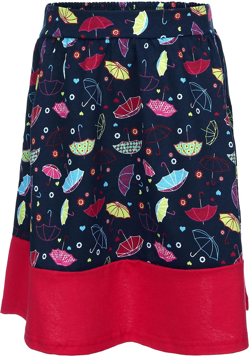 Юбка для девочки. WA5433B-22WA5433B-22Яркая юбка для девочки M&D идеально подойдет вашей моднице и станет отличным дополнением к летнему гардеробу. Изготовленная из натурального хлопка, она мягкая и приятная на ощупь, не сковывает движения и позволяет коже дышать, не раздражает нежную кожу ребенка, обеспечивая наибольший комфорт. Модель на поясе имеет широкую эластичную резинку, благодаря чему юбка не сползает и не сдавливает животик ребенка. Юбка украшена принтом с изображением разноцветных зонтиков. В такой модной юбке ваша принцесса будет чувствовать себя комфортно, уютно и всегда будет в центре внимания!