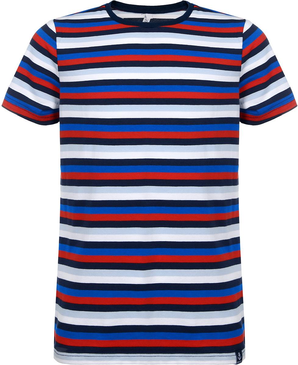 Футболка для мальчика. 163064163064Модная футболка для мальчика Scool идеально подойдет вашему моднику. Изготовленная из эластичного хлопка, она необычайно мягкая и приятная на ощупь, не сковывает движения и позволяет коже дышать, не раздражает даже самую нежную и чувствительную кожу ребенка, обеспечивая наибольший комфорт. Футболка с короткими рукавами оформлена актуальным принтом в полоску. Оригинальный современный дизайн и модная расцветка делают эту футболку модным и стильным предметом детского гардероба. В ней ваш юный мужчина будет чувствовать себя уютно и комфортно и всегда будет в центре внимания!