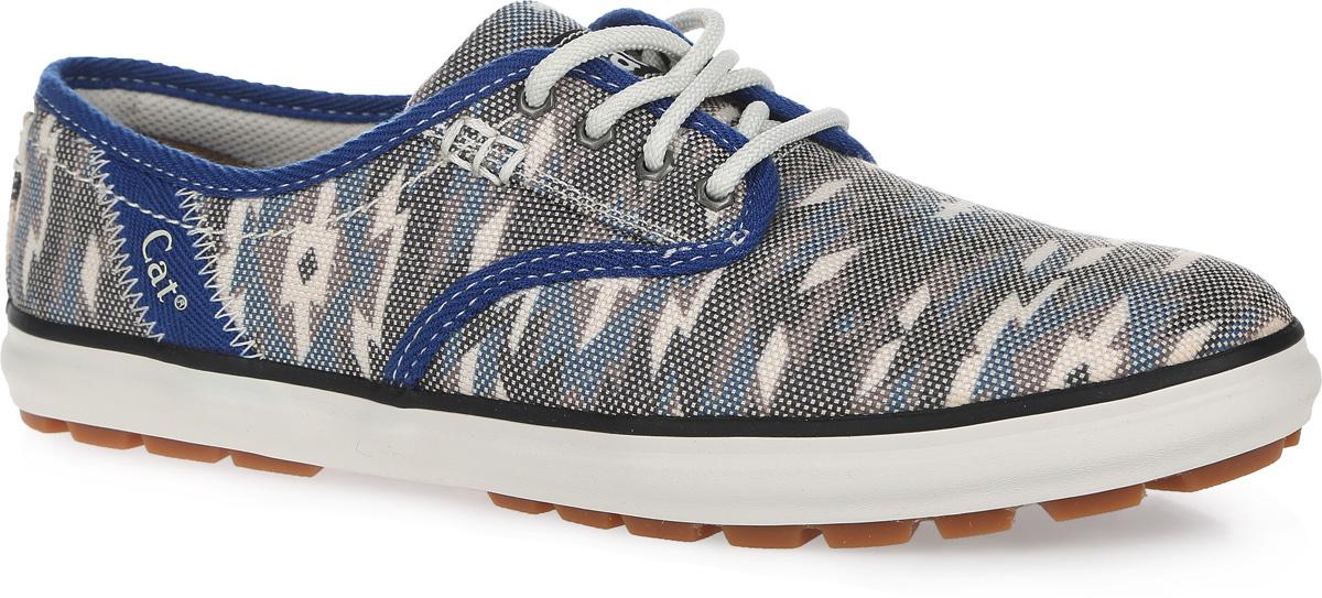 КедыP308504Стильные женские кеды Fray от Caterpillar покорят вас с первого взгляда! Модель выполнена из текстиля и оформлена абстрактным принтом, сбоку и на язычке - фирменными нашивками. Шнуровка обеспечивает надежную фиксацию обуви на ноге. Подкладка из текстиля и стелька из материала ЭВА с текстильной поверхностью гарантируют комфорт при движении. Прочная резиновая подошва с рельефным рисунком обеспечивает сцепление с любой поверхностью. Такие кеды займут достойное место в вашем гардеробе.