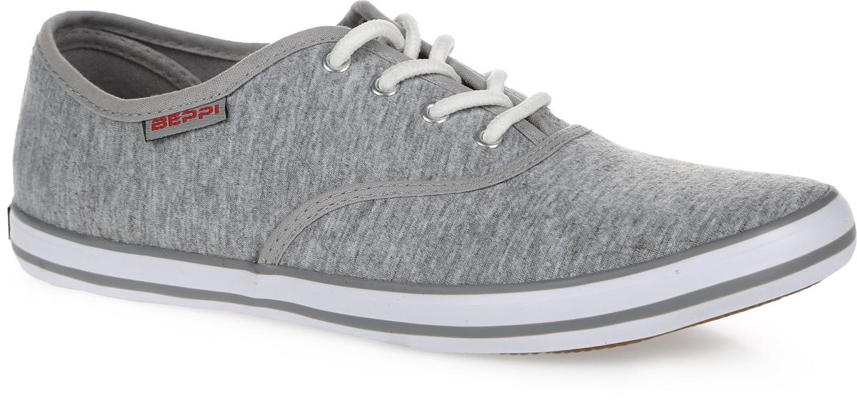 2124092Стильные женские кеды от Beppi покорят вас с первого взгляда! Модель выполнена из текстиля и оформлена на подошве контрастными полосками, сбоку - фирменной нашивкой. Классическая шнуровка обеспечивает надежную фиксацию обуви на ноге. Подкладка из текстиля и стелька из материала ЭВА с текстильной поверхностью гарантируют комфорт при движении. Прочная резиновая подошва с рельефным рисунком обеспечивает сцепление с любой поверхностью. Такие кеды займут достойное место в вашем гардеробе.