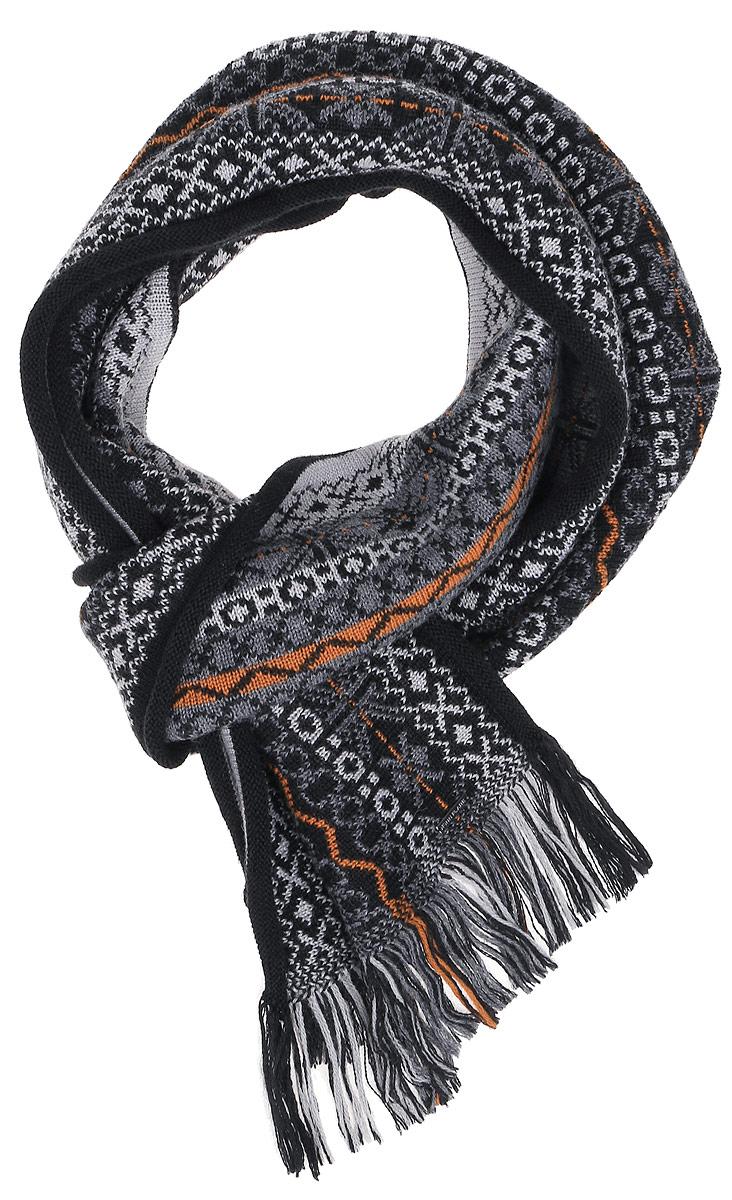Шарф мужской. A16-22135A16-22135_101Мужской шарф Finn Flare станет отличным дополнением к вашему гардеробу в холодную погоду. Шарф, выполненный из шерсти с добавлением акрила, очень мягкий, теплый и приятный на ощупь. Модель оформлена вязаным орнаментом и оригинальными кисточками по краям. Современный дизайн и расцветка делают этот шарф модным и стильным женским аксессуаром. Он подарит вам ощущение тепла, комфорта и уюта.