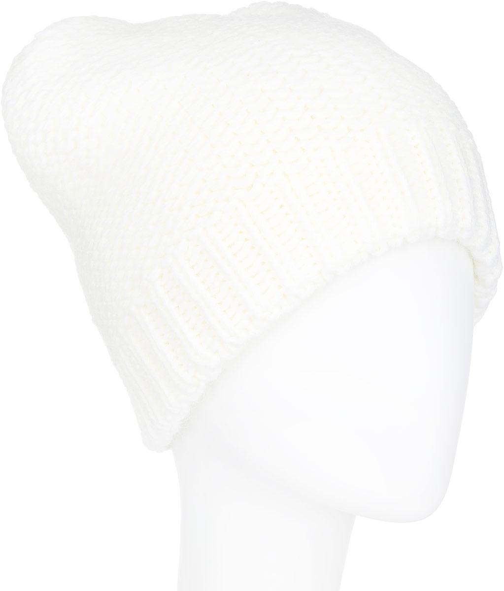 ШапкаA16-32125_145Стильная женская шапка Finn Flare дополнит ваш наряд и не позволит вам замерзнуть в холодное время года. Шапка выполнена из высококачественной пряжи, что позволяет ей великолепно сохранять тепло и обеспечивает высокую эластичность и удобство посадки. Изделие дополнено теплой подкладкой. Модель оформлена металлической эмблемой с логотипом производителя. Понизу предусмотрена вязаная резинка. Такая шапка станет модным и стильным дополнением вашего гардероба. Она согреет вас и позволит подчеркнуть свою индивидуальность!