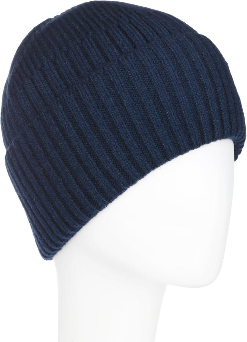 ШапкаA16-21150_101Стильная мужская шапка Finn Flare отлично дополнит ваш образ в холодную погоду. Сочетание шерсти и акрила максимально сохраняет тепло и обеспечивает удобную посадку. Шапка связана резинкой понизу дополнена широким отворотом и оформлена металлической эмблемой с логотипом производителя. Такая модель комфортна и приятна на ощупь, она великолепно подчеркнет ваш вкус.
