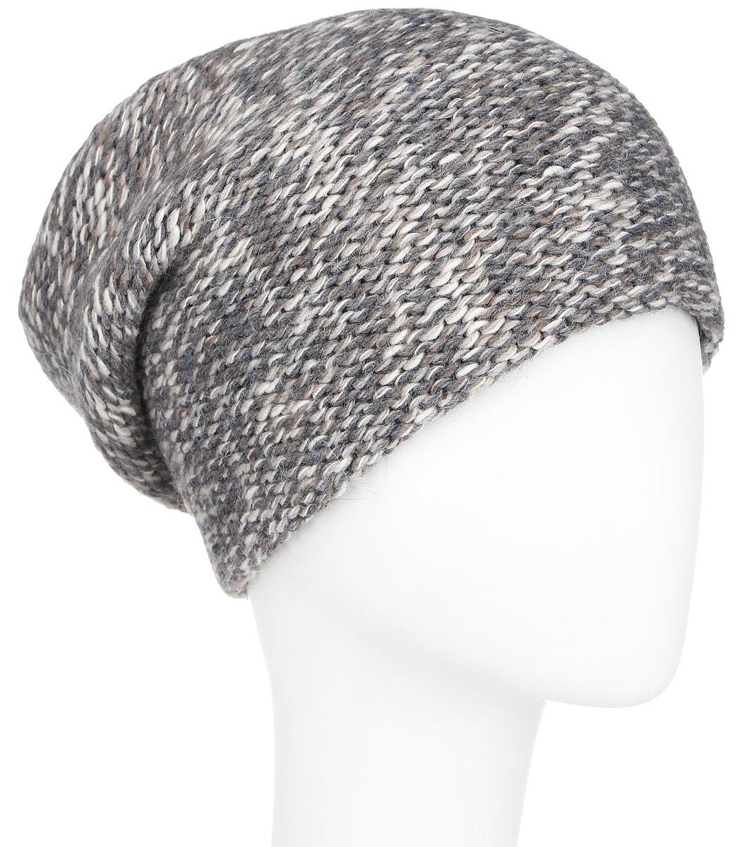 ШапкаA16-12134_138Стильная женская шапка Finn Flare дополнит ваш наряд и не позволит вам замерзнуть в холодное время года. Шапка выполнена из высококачественной комбинированной пряжи, что позволяет ей великолепно сохранять тепло и обеспечивает высокую эластичность и удобство посадки. Модель с удлиненной макушкой оформлена металлической эмблемой с логотипом производителя. Такая шапка станет модным и стильным дополнением вашего гардероба. Она согреет вас и позволит подчеркнуть свою индивидуальность!