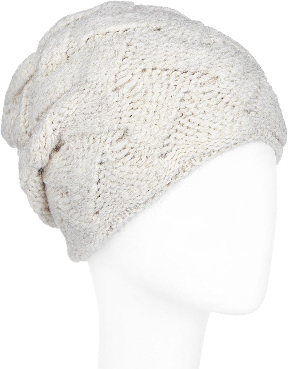Шапка женская. A16-11154A16-11154_711Стильная женская шапка Finn Flare дополнит ваш наряд и не позволит вам замерзнуть в холодное время года. Шапка выполнена из высококачественной комбинированной пряжи, что позволяет ей великолепно сохранять тепло и обеспечивает высокую эластичность и удобство посадки. Изделие дополнено теплой подкладкой. Модель с удлиненной макушкой оформлена оригинальным узором и металлической эмблемой с логотипом производителя. Такая шапка станет модным и стильным дополнением вашего гардероба. Она согреет вас и позволит подчеркнуть свою индивидуальность!