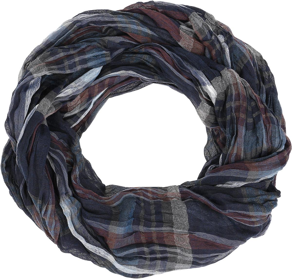 Шарф мужской. A16-21401A16-21401_142Элегантный мужской шарф Finn Flare согреет вас в холодное время года, а также станет изысканным аксессуаром, который призван подчеркнуть ваш стиль и индивидуальность. Оригинальный теплый шарф выполнен из натурального хлопка. Широкий шарф оформлен рисунком в клетку и дополнен тонкой бахромой по краю. Такой шарф станет превосходным дополнением к любому наряду, защитит вас от ветра и холода и позволит вам создать свой неповторимый стиль.
