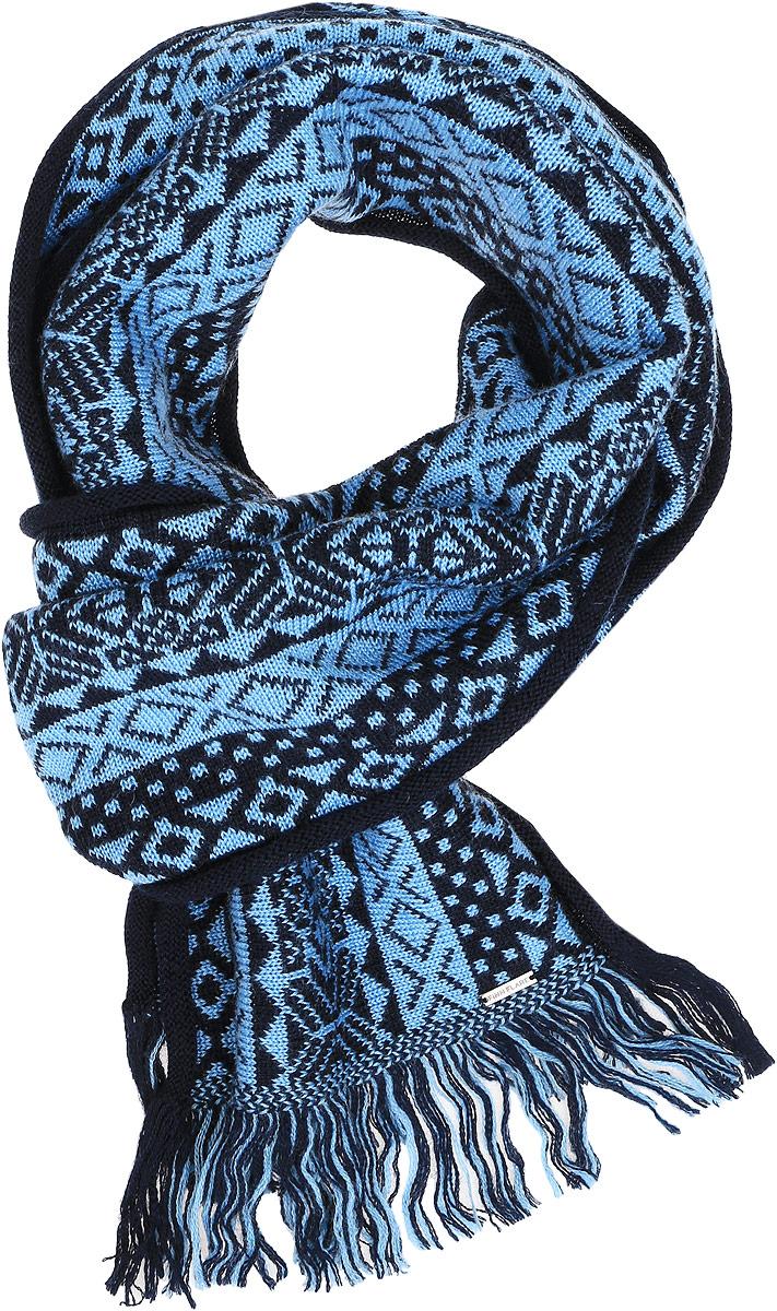 Шарф мужской. A16-22133A16-22133_200Мужской шарф Finn Flare станет отличным дополнением к вашему гардеробу в холодную погоду. Шарф, выполненный из шерсти с добавлением акрила, очень мягкий, теплый и приятный на ощупь. Модель оформлена вязаным орнаментом и оригинальными кисточками по краям. Современный дизайн и расцветка делают этот шарф модным и стильным женским аксессуаром. Он подарит вам ощущение тепла, комфорта и уюта.