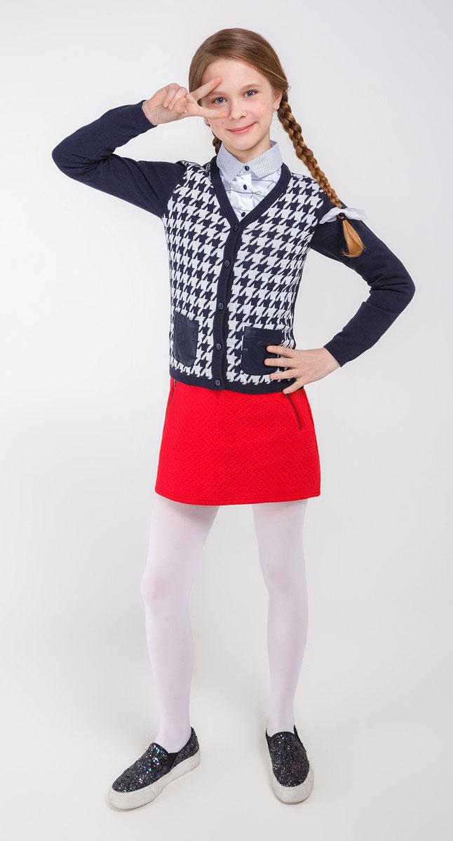 20210130054_500Кардиган для девочки Acoola Indira красиво завершит любой образ, а также подарит уют и тепло. Модель выполнена из высококачественного материала и оформлена оригинальным принтом. Кардиган застегивается на пуговицы. Модель дополнена двумя накладными карманчиками.