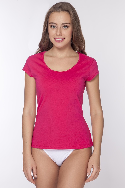 LF1012Стильная футболка с глубоким вырезом горловины и оригинальным мини - рукавом. Максимальный комфорт и функциональность. Изделие выполнено из мягкого эластичного хлопка.