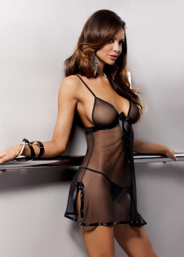 Сорочка прозрачная Kea black. 0319903199