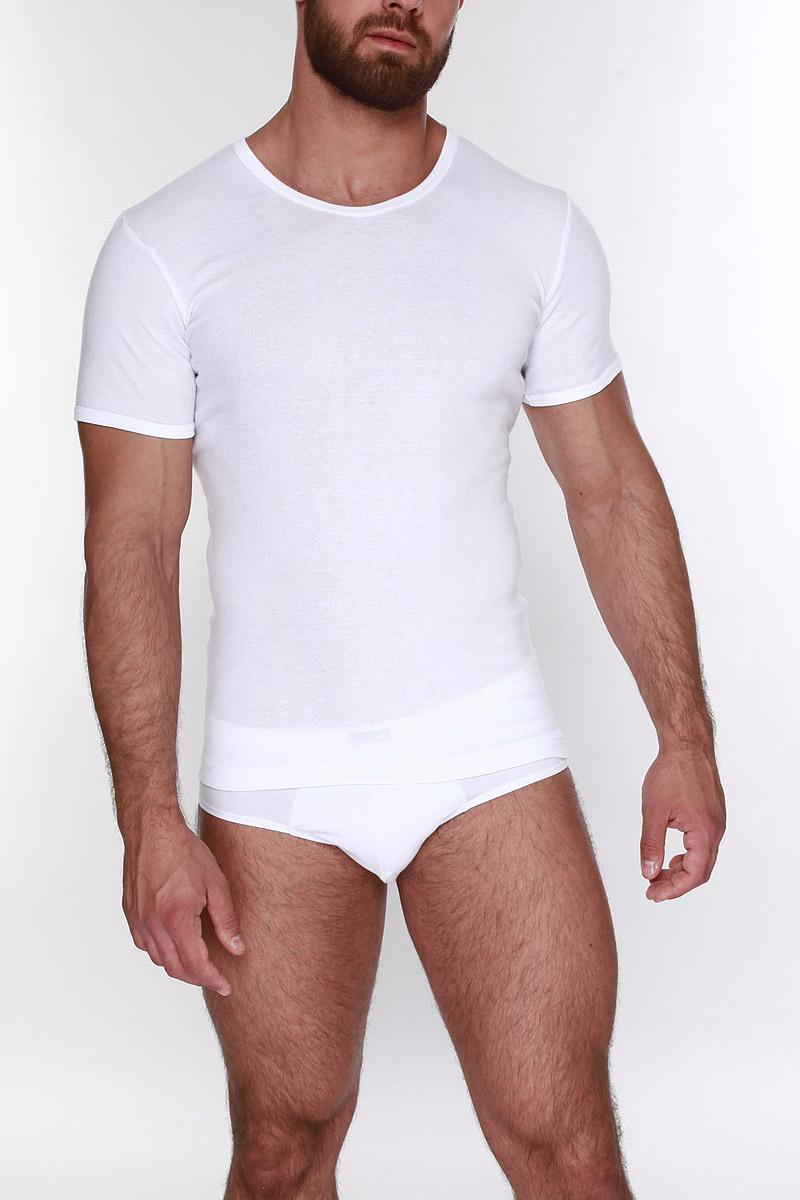 Футболка мужская. TMF503TMF503Облегающая футболка с овальным глубоким вырезом. В 2х ростах: В, С