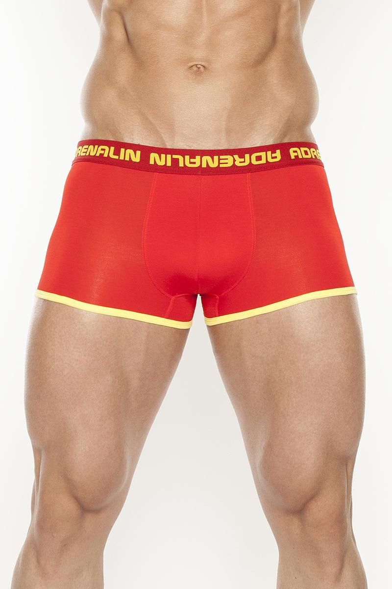 Трусы-шорты мужские. TMX4039TMX4039Трусы-шорты из вискозного полотна с ярким локальным принтом на задней детали и контрастными бейками по ножкам изделия. Дополнены котрастной жаккардовой резинкой.
