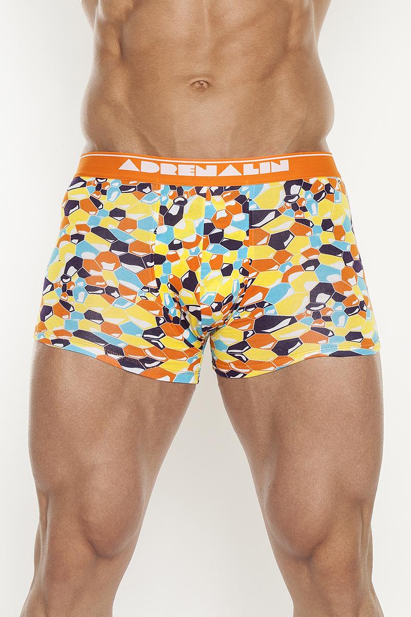 Трусы-шорты мужские. TMX4045TMX4045Облегающие трусы-шорты из многоцветного принтованного полотна с яркой резинкой.