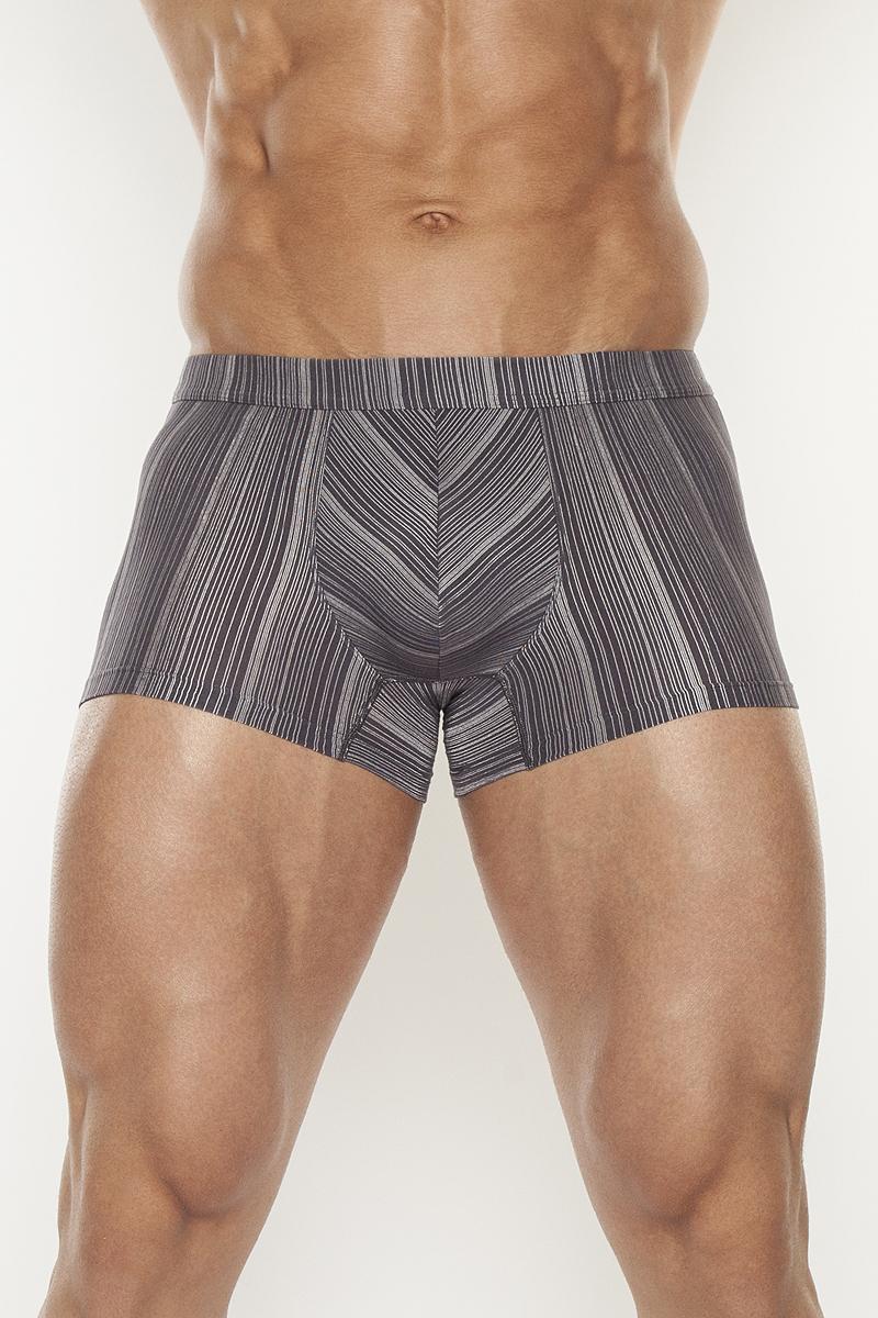 Трусы-шорты мужские. TMX5016TMX5016Жаккардовые трусы-шорты с отрезным поясом на внутренней резинке, выполненные из полотна с высоким содержаием микрофибры.