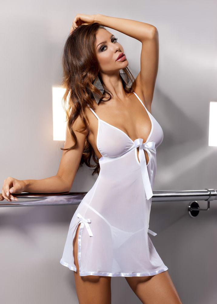 Сорочка прозрачная Kea white. 0320003200