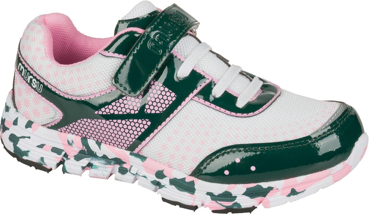 Кроссовки200472Модные кроссовки для девочки от Mursu выполнены из искусственной лакированной кожи и текстиля с принтом в горох. Подкладка из текстиля не натирает. Стелька из натуральной кожи комфортна при движении. Эластичная шнуровка и ремешок с застежкой-липучкой надежно зафиксируют модель на ноге. Подошва дополнена рифлением.
